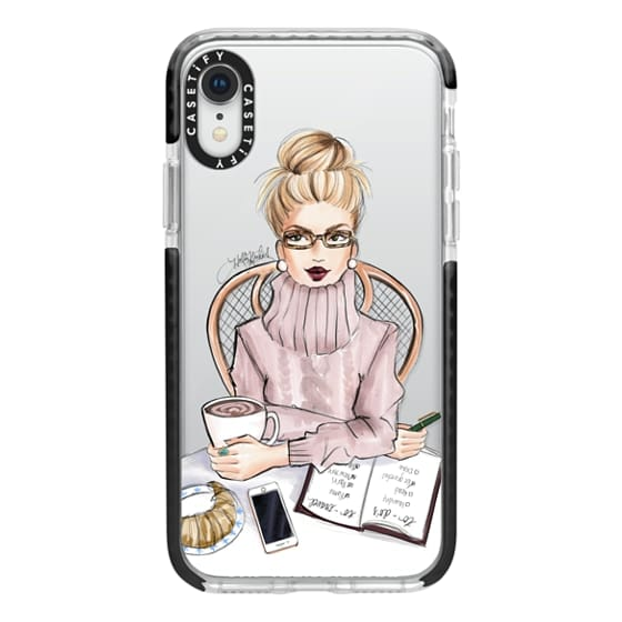 iPhone XR Cases - LOVE YOU A LATTE (BLONDE)