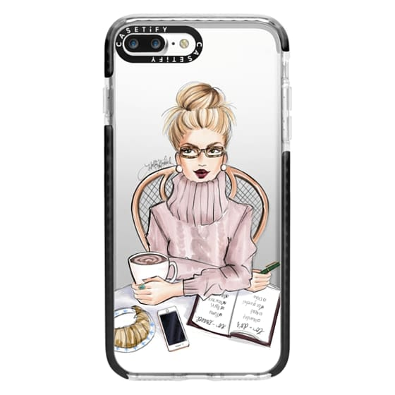 iPhone 7 Plus Cases - LOVE YOU A LATTE (BLONDE)
