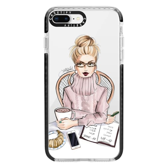 iPhone 8 Plus Cases - LOVE YOU A LATTE (BLONDE)