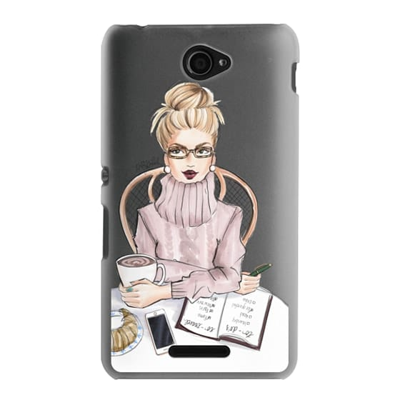 Sony E4 Cases - LOVE YOU A LATTE (BLONDE)