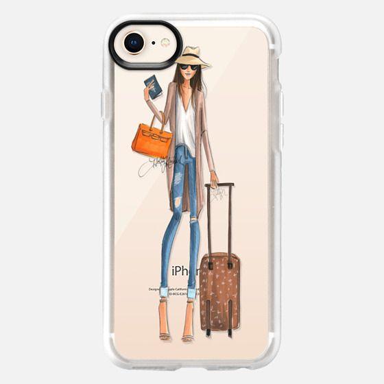 Passport to Fabulous (Transparent Phone Case Fashion Illustration) - Snap Case