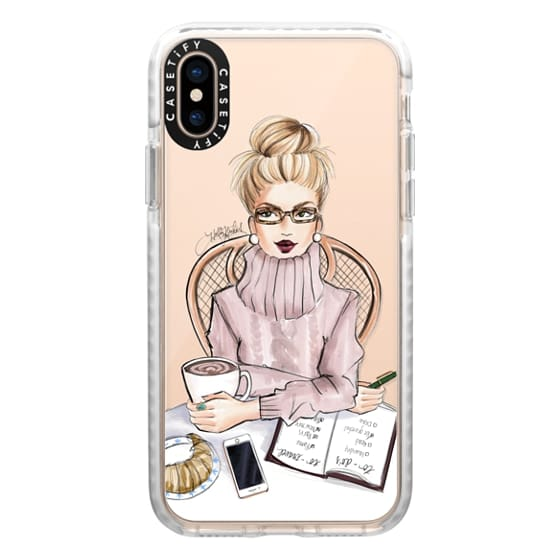iPhone XS Cases - LOVE YOU A LATTE (BLONDE)