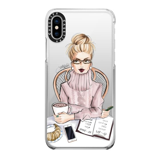 iPhone X Cases - LOVE YOU A LATTE (BLONDE)