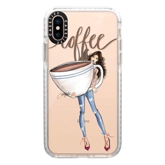 iPhone XS Cases - Just one Cup (Coffee Girl Fashion Illustration Case)