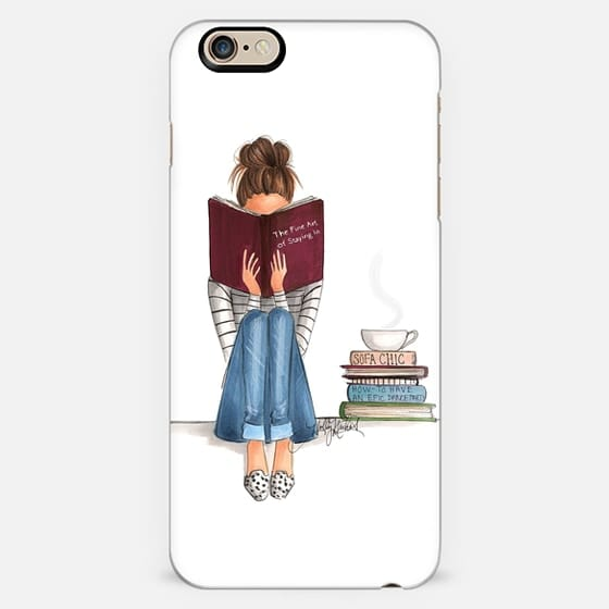 The Fine Art Of Staying In (White Background, Phone Case) -