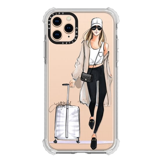 iPhone 11 Pro Max Cases - Ready, Set, Jet (Travel Girl Fashion Illustration)