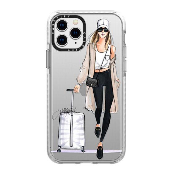 iPhone 11 Pro Cases - Ready, Set, Jet (Travel Girl Fashion Illustration)