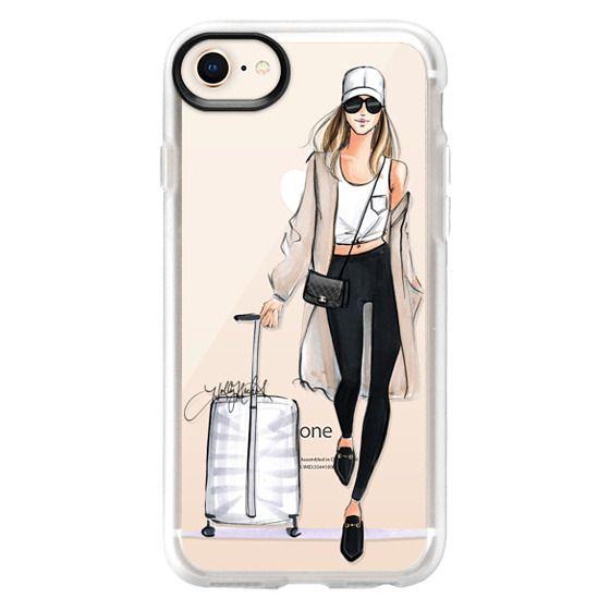 iPhone 8 Cases - Ready, Set, Jet (Travel Girl Fashion Illustration)