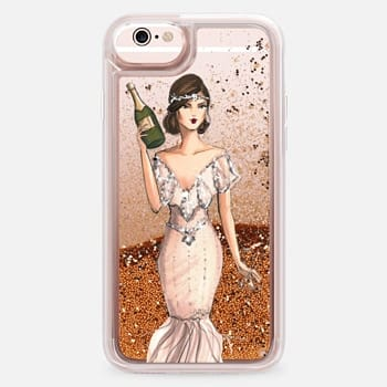 iPhone 6s Case I'll Bring the Bubbly (Champagne Girl, Fashion Illustration Clear Case)