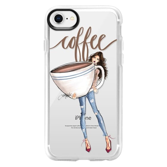 iPhone 8 Cases - Just one Cup (Coffee Girl Fashion Illustration Case)