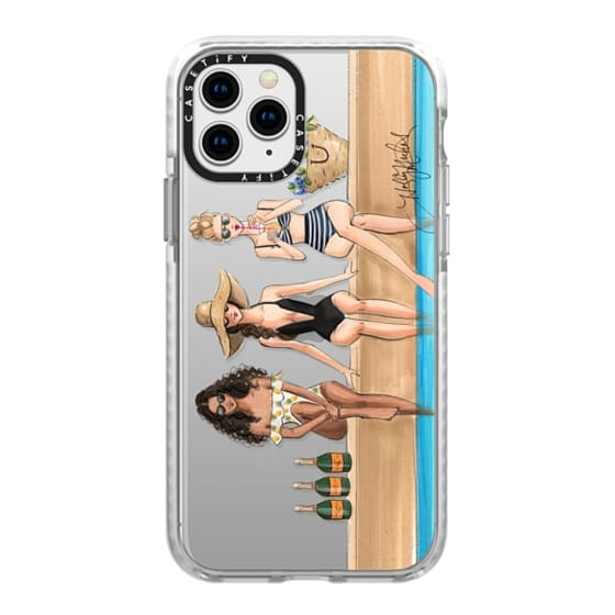 iPhone 11 Pro Cases - The Weekenders (Fashion Illustration Transparent Phone Case)