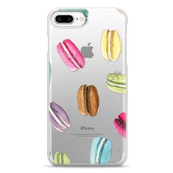 Snap iPhone 7 Plus Case - Macaron Shuffle (Transparent)