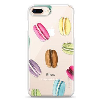 Snap iPhone 8 Plus Case - Macaron Shuffle (Transparent)