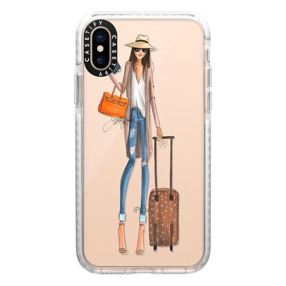 iPhone XS Cases - Passport to Fabulous (Transparent Phone Case Fashion Illustration)