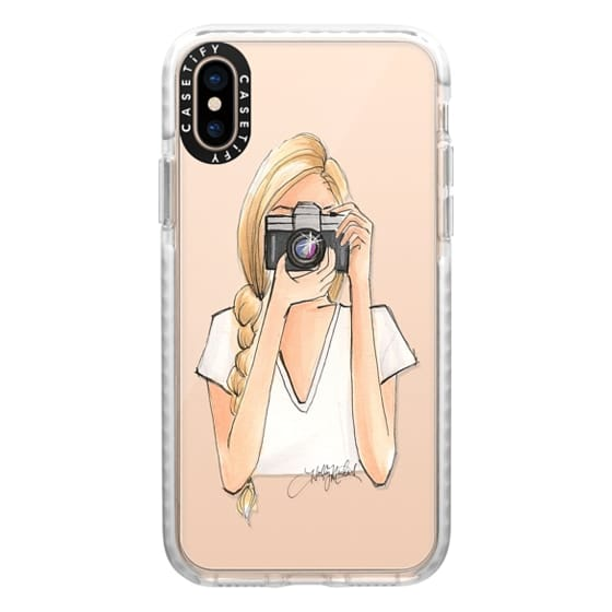 iPhone XS Cases - ISO (Camera Girl, Transparent Case)