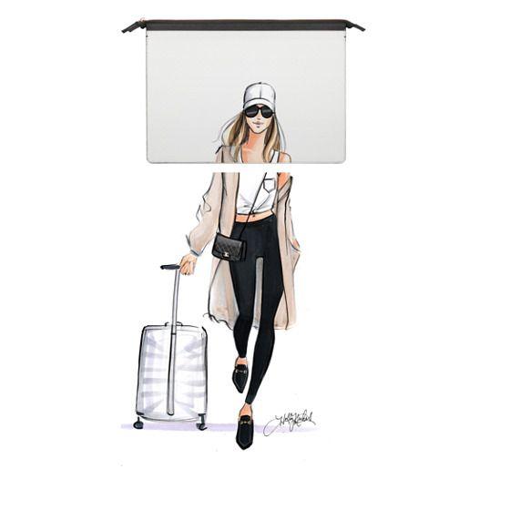 MacBook Air Retina 13 Sleeves - Ready Set Jet (Wanderlust Travel Girl Fashion Illustration MacBook pro Case)