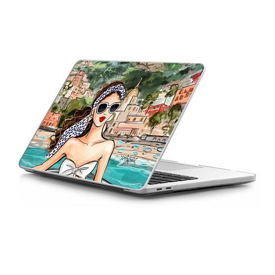 MacBook Pro Touchbar 13 Sleeves - Amalfi Coast Fashion Illustration MacBook Case