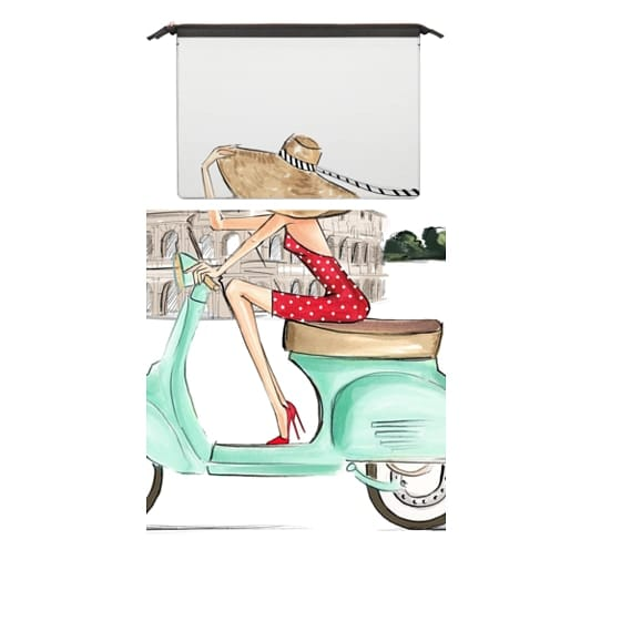 MacBook Air Retina 13 Sleeves - Vespa Rome Girl (Fashion Illustration MacBook Pro Case)