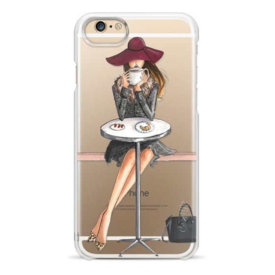 iPhone 6s Cases - Lady Latte, Coffee Girl (Transparent)