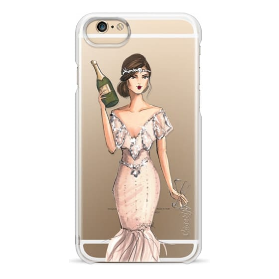 iPhone 6 Cases - I'll Bring the Bubbly (Champagne Girl, Fashion Illustration Clear Case)