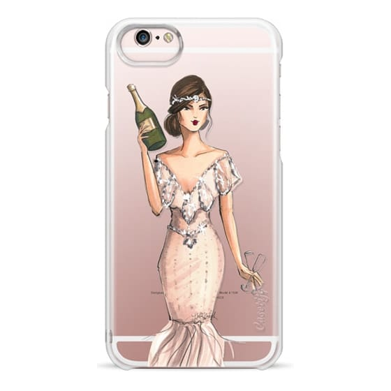 iPhone 6s Cases - I'll Bring the Bubbly (Champagne Girl, Fashion Illustration Clear Case)