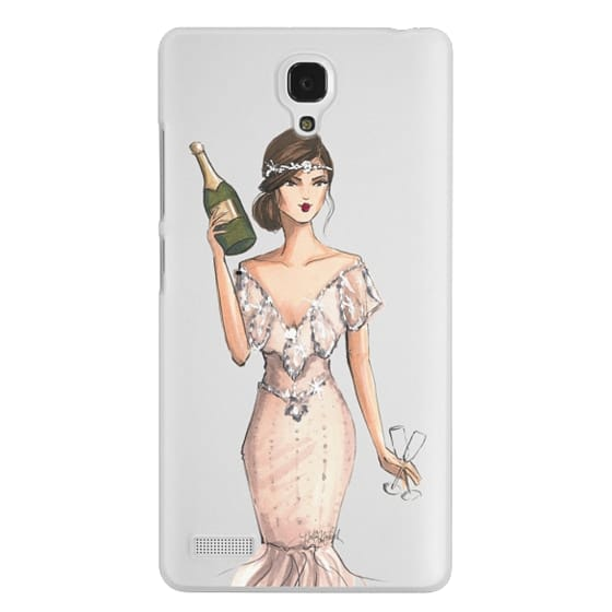 Redmi Note Cases - I'll Bring the Bubbly (Champagne Girl, Fashion Illustration Clear Case)