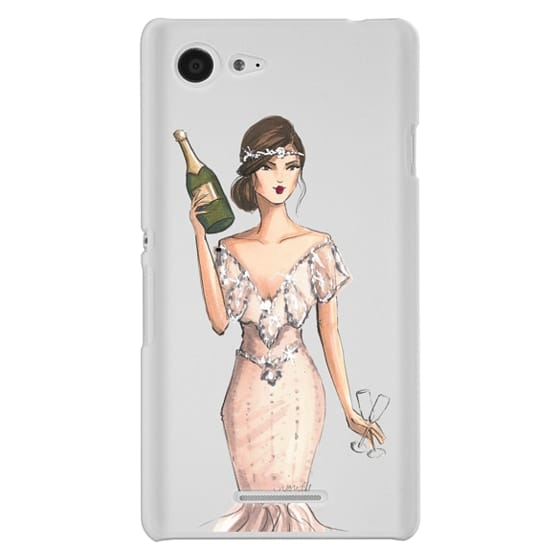 Sony E3 Cases - I'll Bring the Bubbly (Champagne Girl, Fashion Illustration Clear Case)