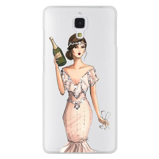 Xiaomi 4 Cases - I'll Bring the Bubbly (Champagne Girl, Fashion Illustration Clear Case)