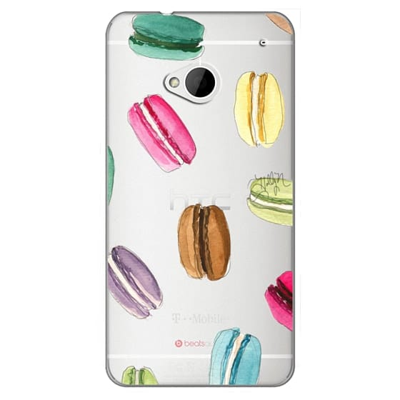 Htc One Cases - Macaron Shuffle (Transparent)