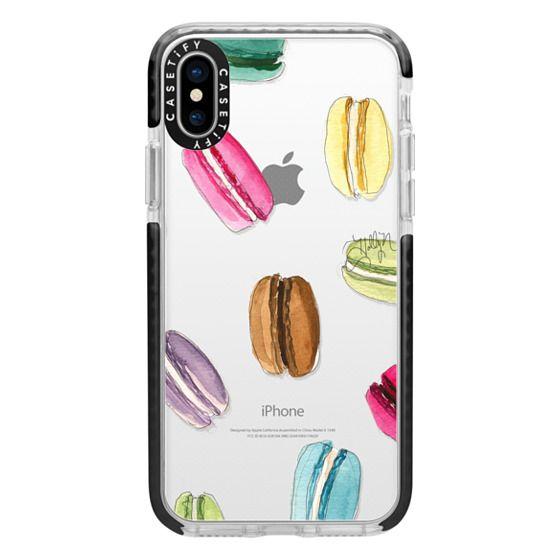 iPhone X Cases - Macaron Shuffle (Transparent)