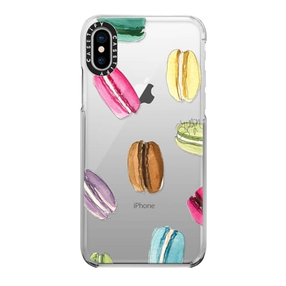 iPhone X Cases - Macaron Shuffle (Transparent)