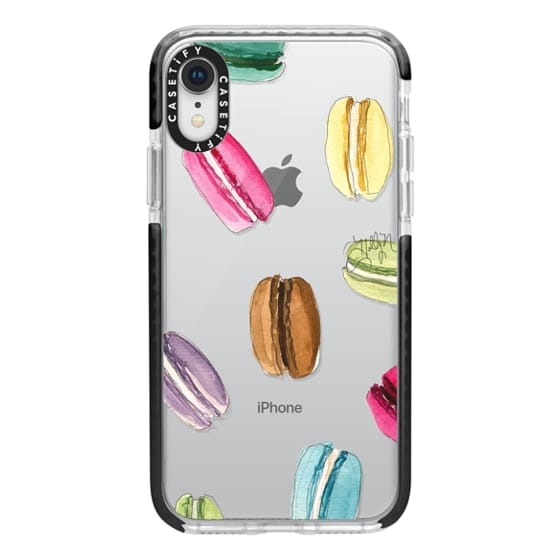 iPhone XR Cases - Macaron Shuffle (Transparent)