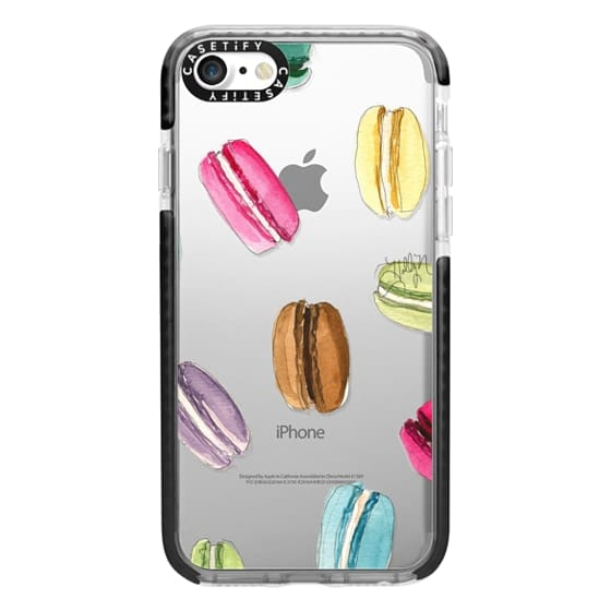 iPhone 7 Cases - Macaron Shuffle (Transparent)