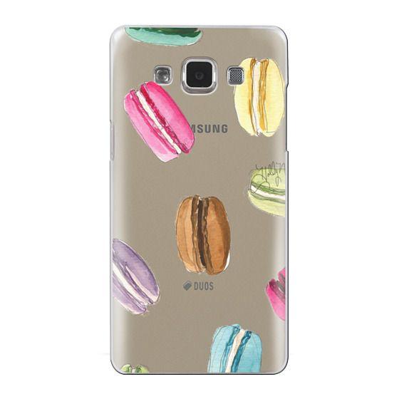 Samsung Galaxy A5 Cases - Macaron Shuffle (Transparent)