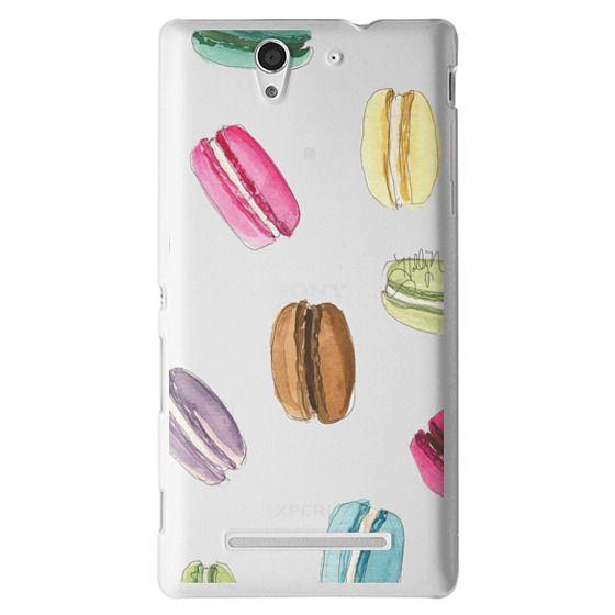 Sony C3 Cases - Macaron Shuffle (Transparent)