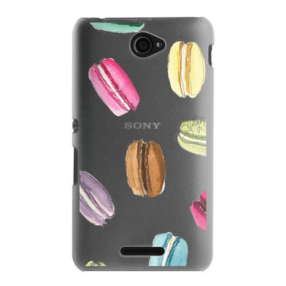 Sony E4 Cases - Macaron Shuffle (Transparent)