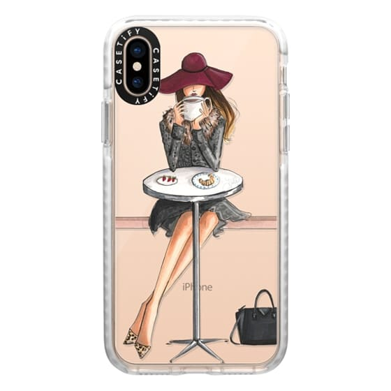 iPhone XS Cases - Lady Latte, Coffee Girl (Transparent)