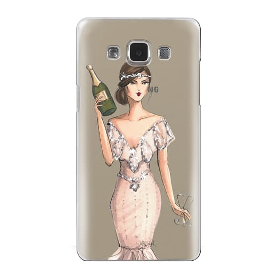 Samsung Galaxy A5 Cases - I'll Bring the Bubbly (Champagne Girl, Fashion Illustration Clear Case)