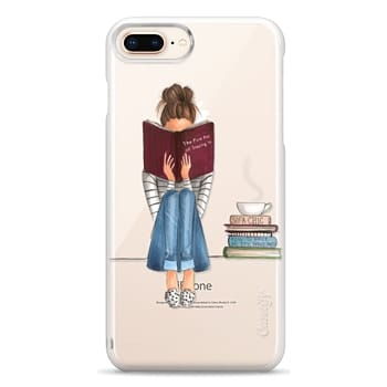 Snap iPhone 8 Plus Case - The Fine Art of Staying In (Transparent)