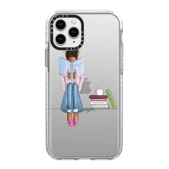 iPhone 11 Pro Cases - Bookshelf Chic (Girl Reading Transparent Case)