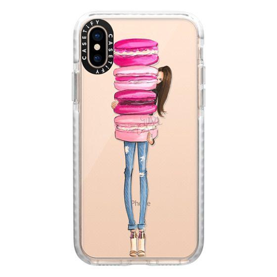 iPhone XS Cases - Macaron Overload (Transparent)