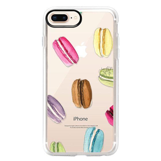 iPhone 8 Plus Cases - Macaron Shuffle (Transparent)
