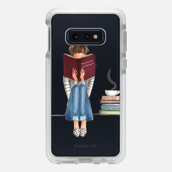 Samsung Galaxy / LG / HTC / Nexus Phone Case - The Fine Art of Staying In (Transparent)