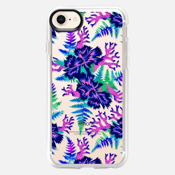 Coral Carnation - Blue/Purple/Clear - Snap Case