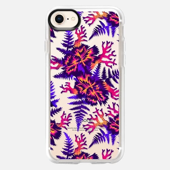 Coral Carnation - Purple/Pink/Clear - Snap Case