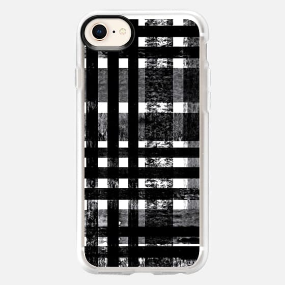 Checked BW - Snap Case