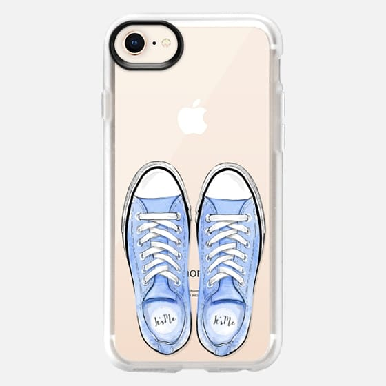 Blue Sport Shoes Summer Fashion City Girl Beach Holiday - Snap Case