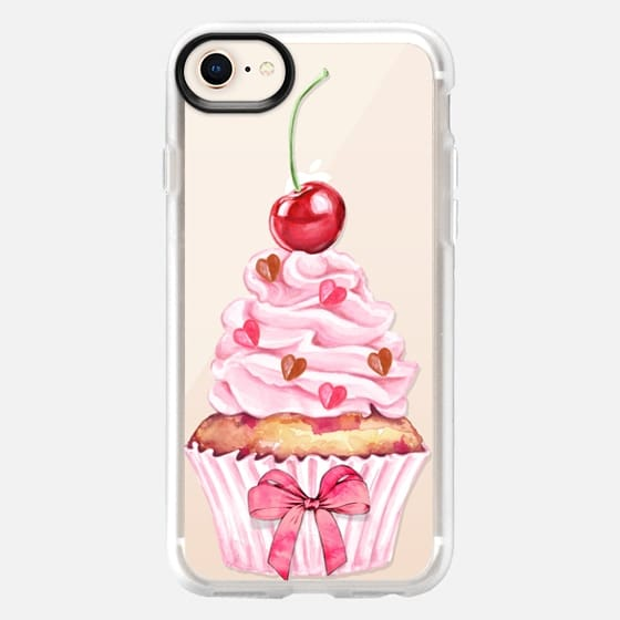 Cherry Cupcake Pink Cute Cupcake with Red Bow Summer Fruits - Snap Case