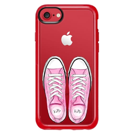 iPhone 7 Plus Cases - Pink Shoes Sporty Girl Summer Fashion City Girl Sport Shoes Sneakers