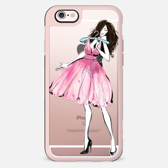 The Pink One - Brown Hair Option - New Standard Case